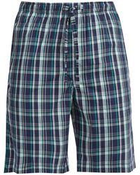 Derek Rose - Barker Tartan Cotton Pyjama Shorts - Lyst