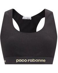 Paco Rabanne ロゴジャカード ローインパクト スポーツブラ - ブラック