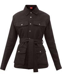 ART SCHOOL Belted Linen Jacket - Black