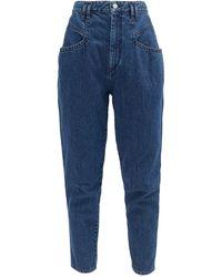 Isabel Marant Padeloisasr High-rise Tapered-leg Jeans - Blue