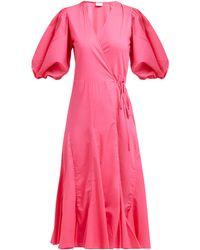 RHODE - Robe portefeuille en coton Fiona - Lyst