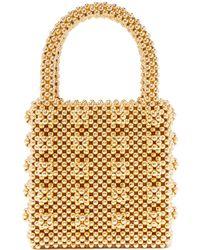 Shrimps Una Leopard-print Faux-fur Bag in Green - Lyst 95000586d37bc