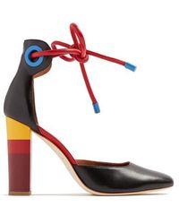 Malone Souliers - X Roksanda Jolene Leather Court Shoes - Lyst