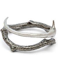 Pearls Before Swine - Thorn Oxidised Sterling Silver Ring - Lyst