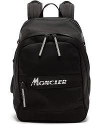 Moncler ジモント キャンバスバックパック - ブラック