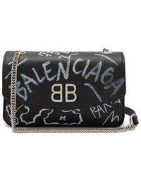 Balenciaga - Bb Round Graffiti Bag - Lyst