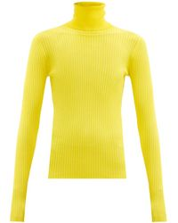 Dodo Bar Or Stacy Roll-neck Ribbed Jumper - Yellow
