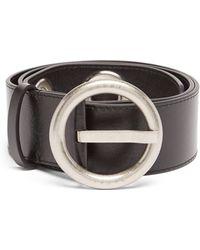 Marni Eyelet Leather Belt - Black