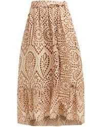 Lisa Marie Fernandez - Nicole Broderie Anglaise Cotton Skirt - Lyst