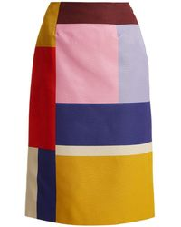 Mary Katrantzou - Sigma Ottoman Colour-block Pencil Skirt - Lyst