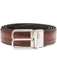 Berluti - Essence Reversible Leather Belt - Lyst