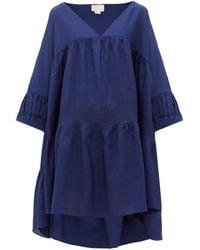 Anaak アイリ シルクドレス - ブルー