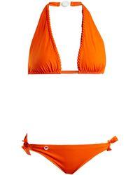 Fendi - Lace Up Halterneck Tie Side Bikini Set - Lyst