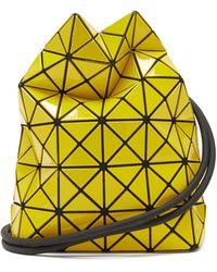 Bao Bao Issey Miyake Wring Drawstring Pvc Bucket Bag - Yellow