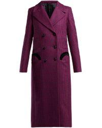 Blazé Milano - Fair & Square Checked Wool Coat - Lyst