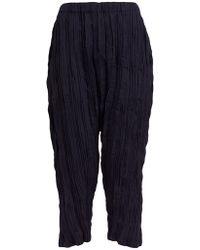 Issey Miyake Splash Pleat High Rise Pants - Black