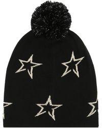 Perfect Moment Floro Star-intarsia Merino Wool Beanie - Black