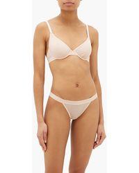 Negative Underwear Silky Semi-sheer Thong - Brown