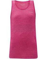 FALKE Wool Tech Light Wool-blend Tank Top - Pink
