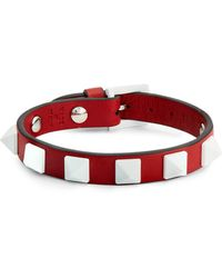 Valentino | Rockstud Leather Bracelet | Lyst