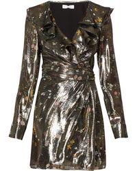 Altuzarra Robe courte en lamé de soie mélangée Lennox - Multicolore