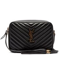Saint Laurent Lou Medium Quilted-leather Cross-body Bag - Black