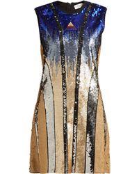 Sportmax Ghiera Sequin Embellished Mini Dress - Blue
