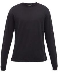 AURALEE Seamless Long-sleeve Cotton Jersey Top - Black