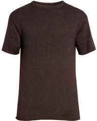 Simon Miller | Kohide Crew-neck Cotton-knit T-shirt | Lyst