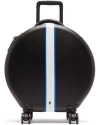 OOKONN Front-stripe Circular Cabin Suitcase - Blue