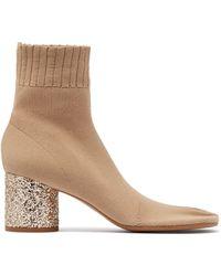 Maison Margiela - 80mm Tabi Glitter Sock Knit Boots - Lyst