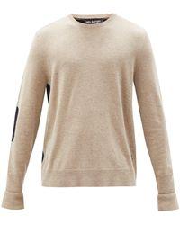 Neil Barrett Panelled Wool-blend Jumper - Natural