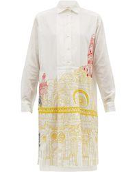 Kilometre Paris Basilica De Santa Croce Khadi-cotton Shirtdress - White