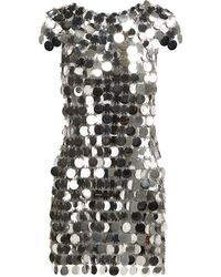 Paco Rabanne - Chainmail Sequin Mini Dress - Lyst