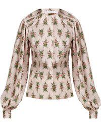Emilia Wickstead Blouse en crêpe à imprimé floral Margot - Rose