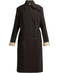 Ann Demeulemeester - Oversized Double Breasted Coat - Lyst