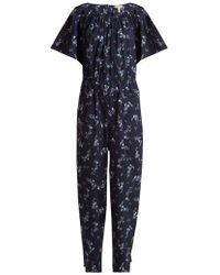 Rebecca Taylor - Francine Floral Print Jumpsuit - Lyst