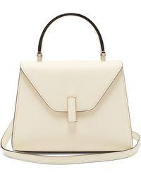 Valextra Iside Mini Leather Bag - White