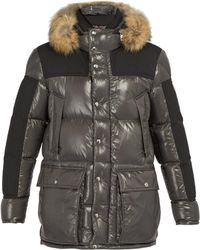 Frey Quilted Down Parka Gray