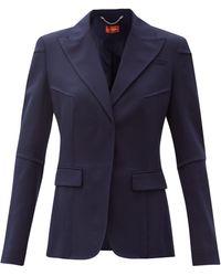 Altuzarra ベアトリクス トロピカルウール シングルジャケット - ブルー