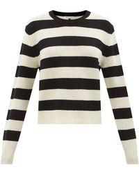 Bella Freud ボーダー ウールセーター - ブラック