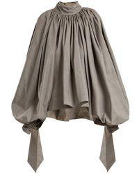 Awake - Oversized Puff-sleeved Cotton Top - Lyst