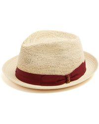 Borsalino Panama Woven And Crochet Straw Hat - Natural