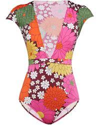Dodo Bar Or Maillot de bain à imprimé floral Esterika - Multicolore