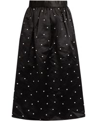Jupe by Jackie | Gala Polka-dot Embroidered Satin Skirt | Lyst