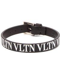 Valentino - Vltn Leather Bracelet - Lyst