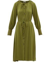 PROENZA SCHOULER WHITE LABEL ジャージークレープシャツドレス - グリーン