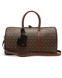 Burberry Tb-monogram Coated-canvas Holdall - Brown