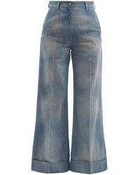 Gucci High-rise Wide-leg Jeans - Blue