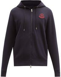 2 Moncler 1952 Logo-patch Cotton-jersey Hooded Sweatshirt - Black